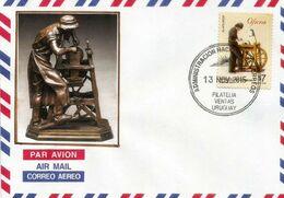 Le Remouleur / L'affûteur / El Afilador . Métiers Anciens.   Lettre D'Uruguay - Métiers
