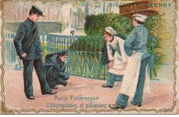 Chromos Biscuits Pernot Paris Pittoresque Télégraphistes Et Patissiers - Pernot