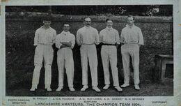 DEPORTE // SPORT. CRICKET. LANCANSHIRE AMATEURS. THE CHAMPION TEAM 1904 - Cricket