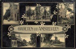 Amstelveen, Groeten Uit, Cafe De Uitkijk, Buitenveldert, Korenmolen - Amstelveen