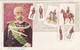 Italie - Armée Italienne - Humbert I. Roi D'Italie Sur Le Trône En 1878 - Altri