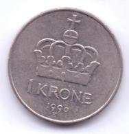 NORGE 1990: 1 Krone, KM 419 - Norwegen