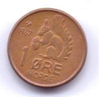 NORGE 1967: 1 Öre, KM 403 - Norwegen