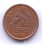 NORGE 1963: 1 Öre, KM 403 - Norwegen