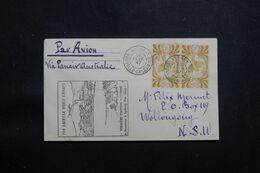 NOUVELLE CALÉDONIE - Enveloppe De Nouméa Pour L'Australie En 1947 Par 1er Vol - L 65067 - Cartas