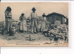 ANDERNOS-les-BAINS : Ostréiculteurs Blanchissant Les Tuiles - Très Bon état - Andernos-les-Bains
