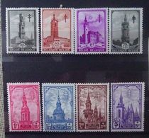 BELGIE  1939     Nr. 519 - 526      Spoor Van Scharnier *    CW 25,00 - Belgium