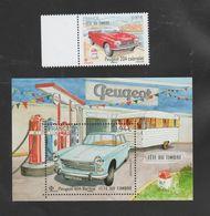 """FRANCE / 2020 / Y&T N° 5390/5391 ** : """"Journée Du Timbre"""" (Peugeot 204 Cabriolet & 404 Berline) X 1 - Neufs"""