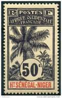 Haut Senegal Et Niger (1906) N 13 * (charniere) - Neufs