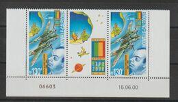 Nouvelle Calédonie 2000 Paire Datée A De Saint Exupéry PA 348 ** MNH - Poste Aérienne