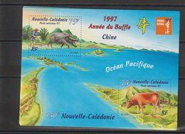 Nouvelle Calédonie 1997 Année Du Buffle BF 18 ** MNH - Hojas Y Bloques
