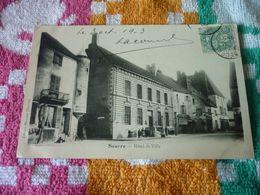 Carte Postale Côte D'Or Seurre Hotel De Ville Animée - Andere Gemeenten