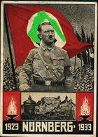AK/CP Propaganda  Hitler Nazi Nürnberg  Reichsparteitag   Gel/circ.1933   Erhaltung/Cond. 2-/ 3  Nr. 01078 - Weltkrieg 1939-45
