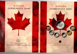 CANADA JAARSET 2006 7 PCS MET ZILVEREN MAPLE LEAF - Canada