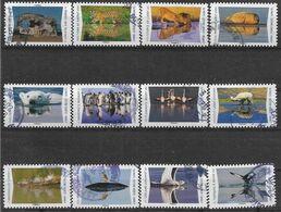 2020 FRANCE Adhesif 1815-26 Oblitérés, Cachet Rond, Reflet Animaux, Série Complète - Adhésifs (autocollants)