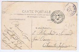 LOT Et GARONNE - Cachet Manuel MARMANDE-GARE Du 21 -10  07 - Postmark Collection (Covers)