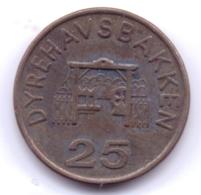 DANMARK 1885: 25 Öre, Dyrehavsbakken - Dänemark