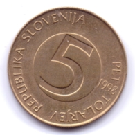 SLOVENIA 1998: 5 Tolarjev, KM 6 - Slovenië