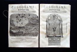 Sardegna In Tre Numeri 22 23 24 Cosmorama Pittorico 1850 Carta Monastir Cagliari - Libri, Riviste, Fumetti
