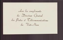 Carte De Visite Directeur Général Des Postes Et Télécommunications Du Viet-Nam - Tarjetas De Visita