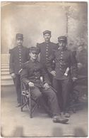 Militaria : Carte Photo : Groupe De Soldats Avec épaulettes En Pose : 23ém Régiment ( Photo BOREL - Pontarlier ) - War 1914-18