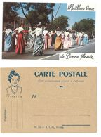 Cpa Avec Mireille ( Arlésienne ) & Carte De Bonne Année, Défilé à Arles ?  ( FO ) - Costumes