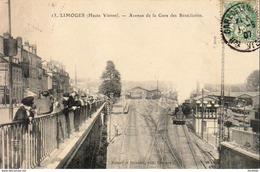 D87  LIMOGES  Avenue De La Gare Des Bénédictins - Limoges