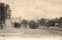 D56  LORIENT  Le Cours Chazelles ........ Tramway Avec Pub Dubonnet - Lorient