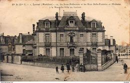 D56  LORIENT  La Sous Préfecture Et Les Rues Belle Fontaine Et Michelet - Lorient