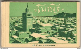 TUNISIE  TUNIS  CARNET INCOMPLET ( RESTE 17 CPA SUR 20 ) ............  ÉTAT TB - Tunisie