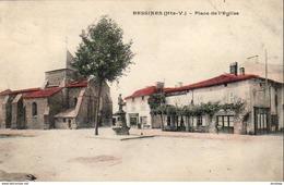 D87 BESSINES Place De L'Église  ............ Peu Courante En Colorisée - Bessines Sur Gartempe