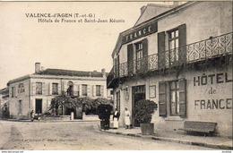 D82  VALENCE D'AGEN  Hôtel De France Et Saint Jean Réunis  ......... Carte Peu Courante - Valence