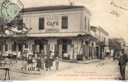 D82  LAVIT DE LOMAGNE Place De L'Hôtel De Ville Et Grande Rue ...... Carte Peu Courante - Lavit