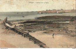 D56  LORIENT  Entrée De La Rade  ........... Carte Toilée Peu Courante - Lorient