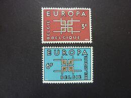 BELGIQUE, Année 1963, EUROPA, YT N° 1260 Et 1261 Neufs MH* - Ongebruikt