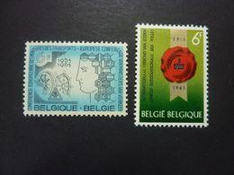 BELGIQUE, Année 1963, YT N° 1253 Et 1254 Neufs MH* - Ongebruikt
