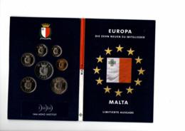 MALTA COINSET 7 PCS. DIFFERENT TYPES - YEARS 1998/2004 - Malta