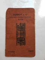 Catalogue TerroT 1911 Livret Motos Cycles Voitures - Motos