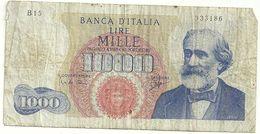 1000 LIRE    BANCA  D'ITALIA  N.333186-- B15---28  GIUGNO  1962 - [ 2] 1946-… : Repubblica