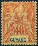 Guyane (1892) N 39 * (charniere) - Guyane Française (1886-1949)