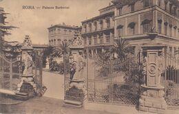 ROMA - PALAZZO BARBERINI CON PALME E GIARDINO - CANCELLATA MONUMENTALE IN FERRO BATTUTO -1909 - Other Monuments & Buildings
