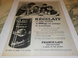 ANCIENNE   PUBLICITE BOITE FAMILIALE REGILAIT  1959 - Affiches