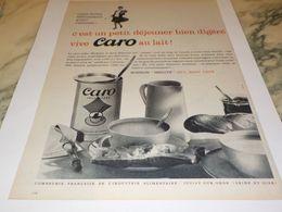 ANCIENNE  PUBLICITE PETIT DEJEUNER  CARO 1959 - Affiches