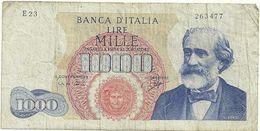 1000 LIRE--E23--   263477-- 26   GIUGNO  1962 - [ 2] 1946-… : Repubblica