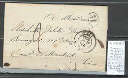France - Lettre - Cursive 77 MONESTIES - Tarn - 1845 - Au Verso - Postmark Collection (Covers)