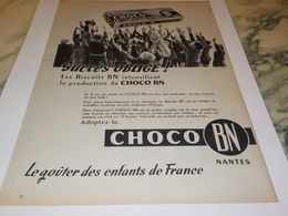 ANCIENNE PUBLICITE SUCCES OBLIGE  CHOCO  BN 1958 - Affiches