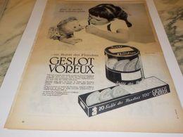 ANCIENNE PUBLICITE  POUR GOUTER DES ENFANTS GESLOT VOREUX 1957 - Affiches