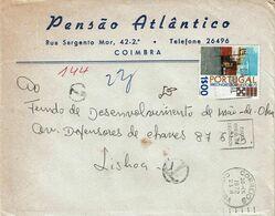 Portugal , 1972 , Dia Mundial Poupança , Estoril , Postmark Coimbra , Pensão Atlântico - Hotel- & Gaststättengewerbe