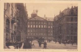 4819      5             Amsterdam, Raadhuisstraat – Koninklijk Paleis Achterzijde Met Tram Lijn 14. (minuscule - Amsterdam