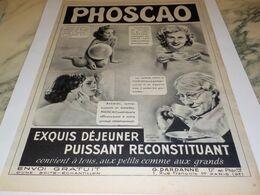 ANCIENNE PUBLICITE LE PLUS EXQUIS CHOCOLAT PHOSCAO   1951 - Affiches
